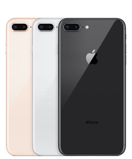 iPhone 8 Plus Gold, Silver and Space Gray