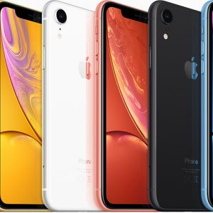 iPhone Xr Red, Yellow, White, Coral, Black and Blue