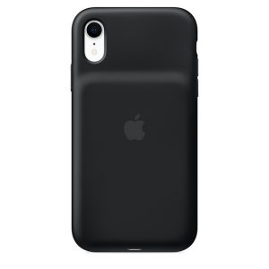 iPhone Xr Smart Battery Case Black back