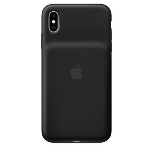 iPhone Xs Max Smart Battery Case Black back