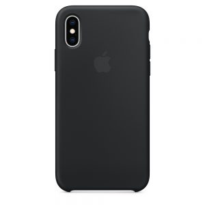 iPhone Xs Silicone Case Black