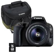 CANON EOS 4000D + EF-S18-55III + BOLSA + CARTÃO SD 16GB