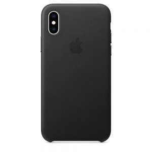 iPhone Xs Leather Case Black