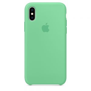 iPhone Xs Silicone Case Spearmint