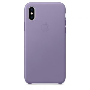 iPhone Xs Leather Case Lilac