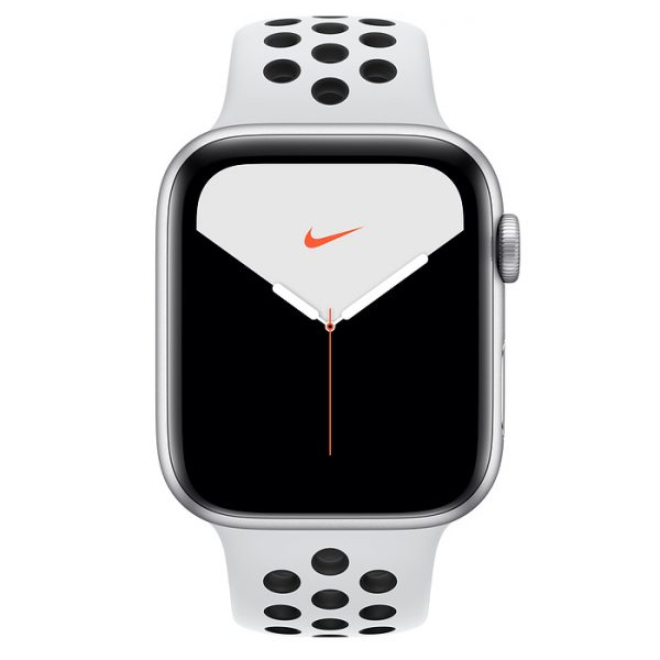 Watch Nike Series 5 44mm Silver Aluminium Case with Pure Platinum-Black Nike Sport Band (front)