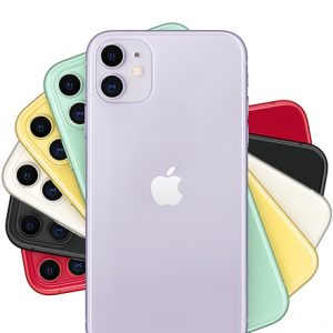 iPhone 11 Purple, Green, Yellow, White, Black and Red