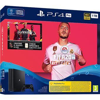 Consola ps4 pro 1tb + Fifa 20