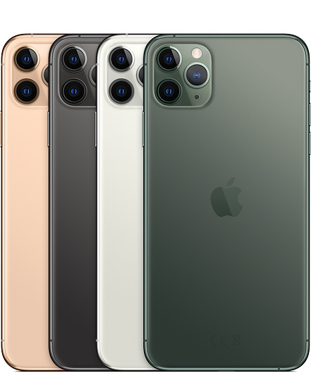 iPhone 11 Pro Max Gold, Space Gray, Silver and Midnight Green