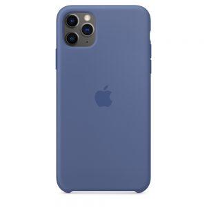 Capa em silicone para iPhone 11 Pro Max - Azul‑linho