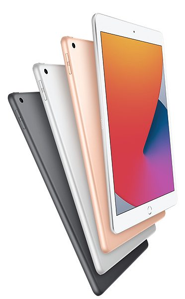 iPad (8th generation) Space Gray, Silver and Gold