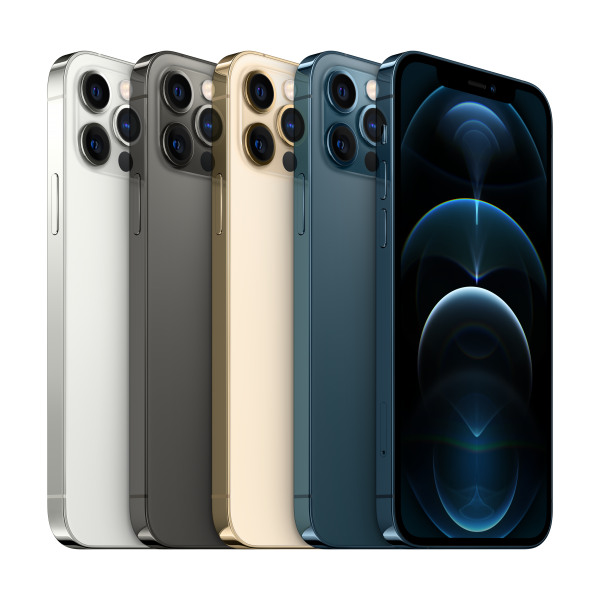 iPhone 12 Pro Silver, Graphite, Gold and Pacific Blue