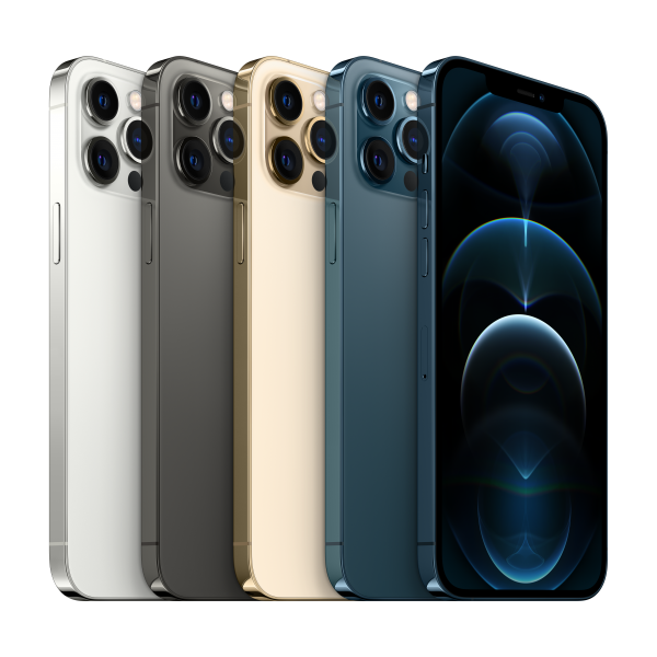 iPhone 12 Pro Max Silver, Graphite, Gold and Pacific Blue