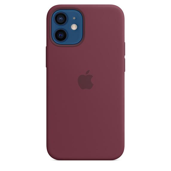 Capa em silicone para iPhone 12 mini com MagSafe – Ameixa