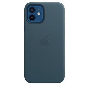 Capa em pele para iPhone 12|12 Pro com MagSafe – Azul Báltico