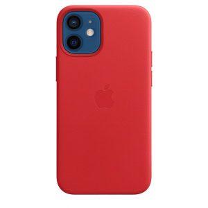 Capa em pele para iPhone 12 mini com MagSafe – Vermelho