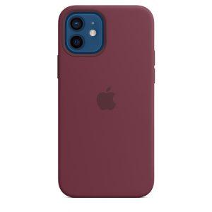 Capa em silicone para iPhone 12|12 Pro com MagSafe – Ameixa