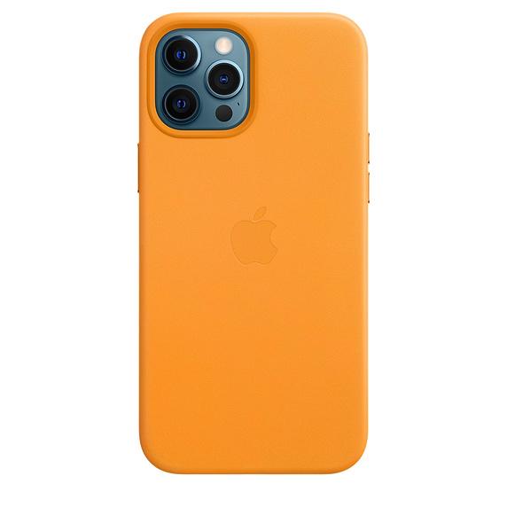 Capa em pele para iPhone 12 Pro Max com MagSafe – Laranja Califórnia
