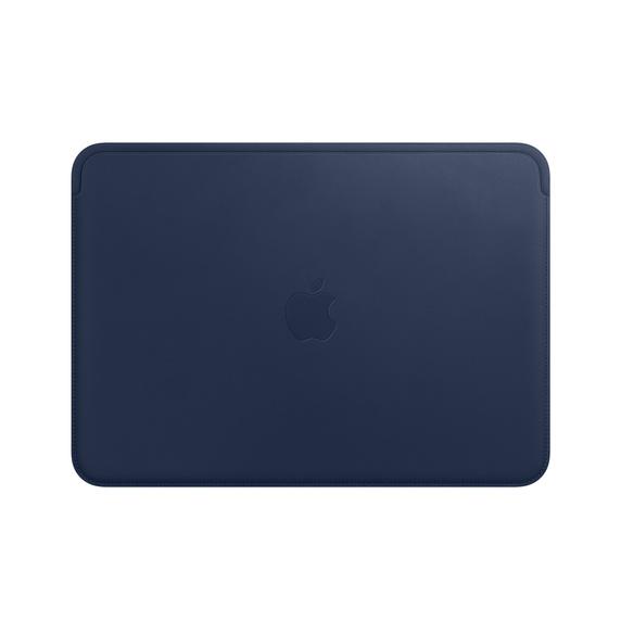 Pasta em pele para MacBook de 12 polegadas - Azul meia‑noite