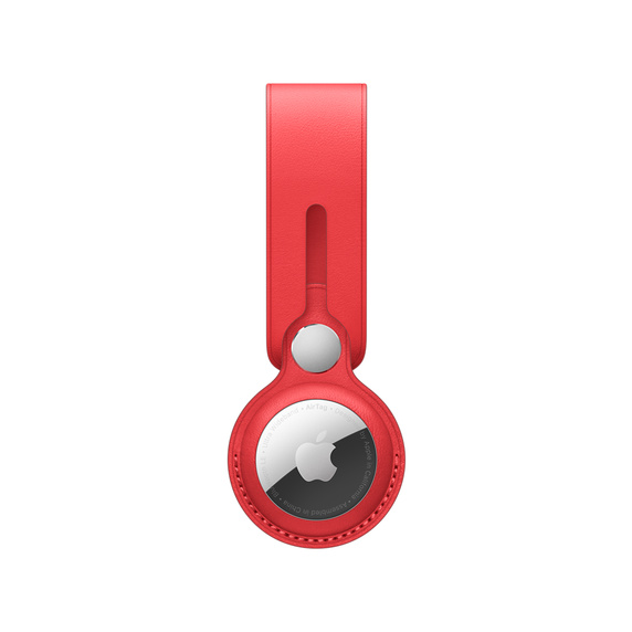 Apple Loop em pele para AirTag - Vermelho