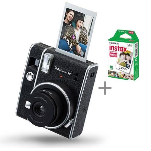 Fujifilm instax mini 40 Black + 10 shot Pack