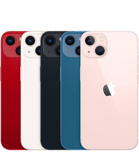 iPhone 13 (Red, Starlight, Midnight, Blue and Pink)